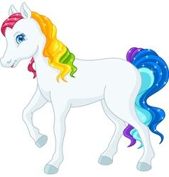 Rainbow horse vector