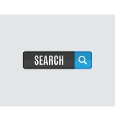 Search web button flat design template for vector