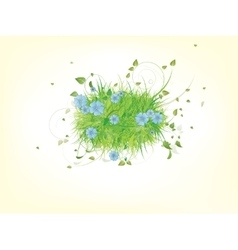 Green spring summer grass vector