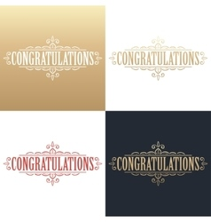 Golden congratulations card vector
