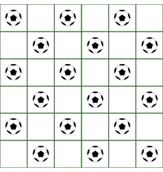 Football ball dark green grid white background vector