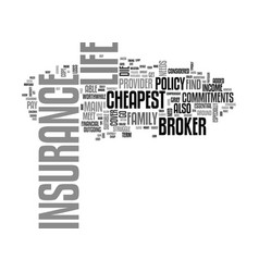 a broker can help you to find the cheapest life vector image vector image