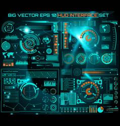 Abstract future concept futuristic blue vector
