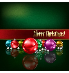 Abstract green grunge background with christmas vector