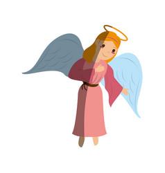 Angel cute cartoon icon image vector