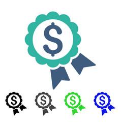 banking award seal flat icon vector image vector image