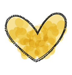 Beautiful heart drawing icon vector