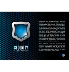 Booklet with steel glossy lightened shield vector image vector image