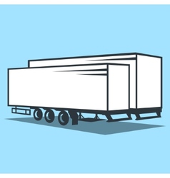 Cargo trailer sign vector
