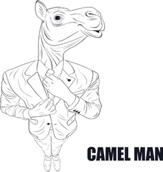 Cartoon character camel vector image vector image