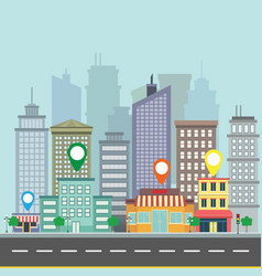 city web banner navigation vector image