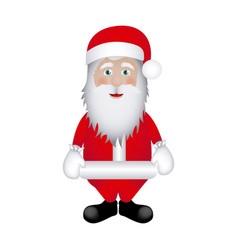 colorful sticker santa claus icon vector image