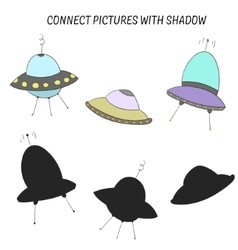 Educational game connect with shadow vector