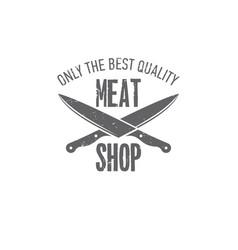 Emblems butchery vector