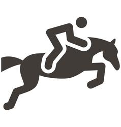 Equestrian icon vector