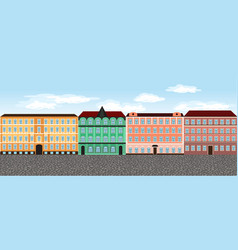 europe city street set 6 multi-colored vector image