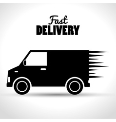 Fast delivery shipping business icon vector
