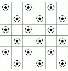 Football Ball Dark Green Grid White Background vector image vector image
