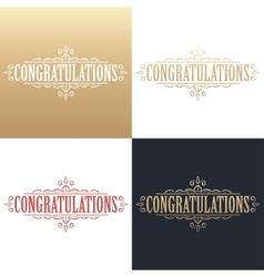 Golden congratulations card vector