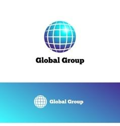gradient Earth logo Elegant globe symbol vector image