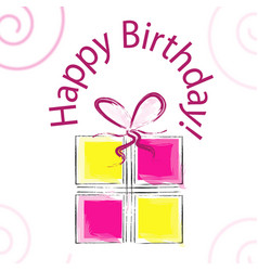hand drawn happy birthday card vector image