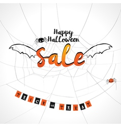 Happy Halloween sale background vector image