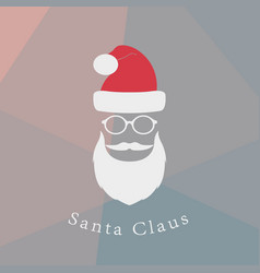 hipster santa claus vector image vector image