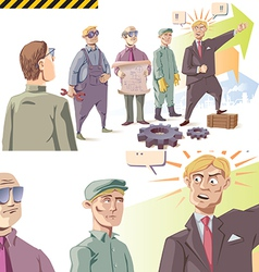 Manager is Speaking to the Workers vector image vector image