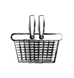 monochrome blurred silhouette of shopping basket vector image vector image