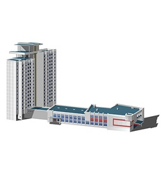 Multi-storey building vector
