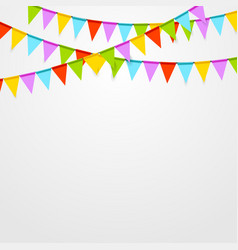 Party flags celebrate bright abstract background vector image vector image