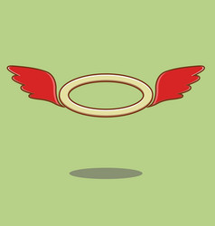 red angel wings vector image vector image