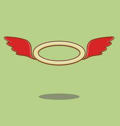 Red angel wings vector