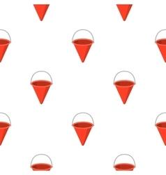 Red metal fire bucket icon cartoon pattern vector