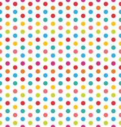 Seamless Polka Dot Background Colorful Pattern for vector image vector image