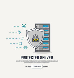 server virus protection vector image