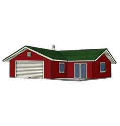 Small red house vector