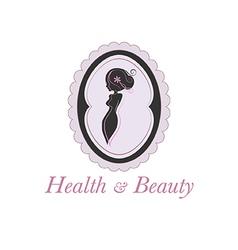 Spa beauty salon logo in a frame vector image vector image