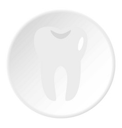 tooth icon circle vector image vector image