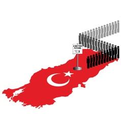 Turkey migration vector