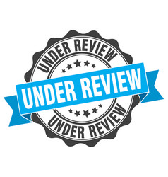 Under review stamp sign seal vector