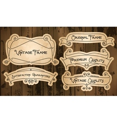 Vintage labels with thin lines vector image