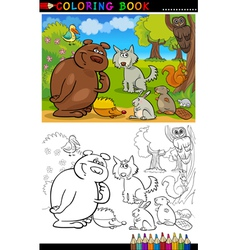 Wild Animals for Coloring vector image