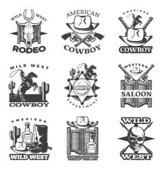 Wild West Emblem Set vector image vector image