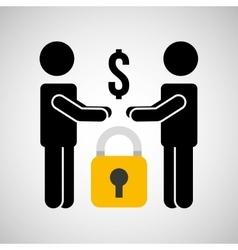 Security money men silhouette vector