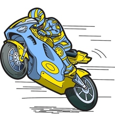 Speeding motorcycle vector