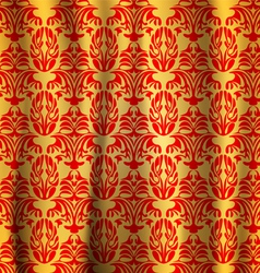 Seamless pattern gold with red curtains abstract vector