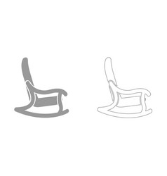 rocking chair it is icon vector image