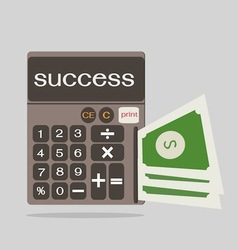 Business concept with calculator icon success vector