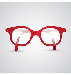 Red retro glasses vector